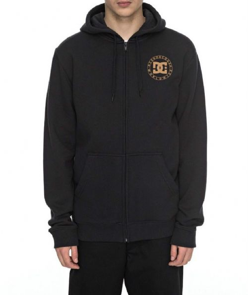 DC SHOES MENS HOODY.WHEEL OF STEELZ ZIP UP BLACK HOODED JACKET TOP 7W 3135 KVJO